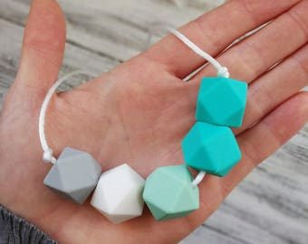 Silicone teething necklace-Dahlia