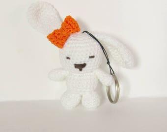 Crochet bunny keychain, Bunny keychain, Miniature bunny, Bag charm, Amigurumi bunny, Easter bunny, Bunny gift, Crochet bunny charm