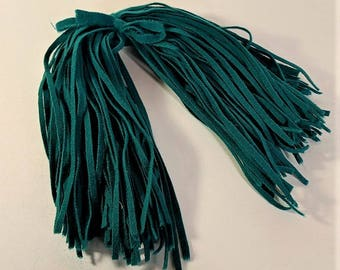 Emerald Green Felted Wool Strips for Rug Hooking from Vintage Collection Hand Cut Number 6 Blade