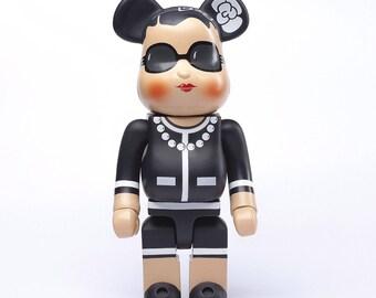 Chanel 400% Bearbrick Doll 28 centimeters
