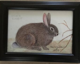 Brush Rabbit with Branch