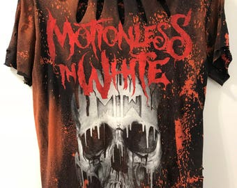 Motionless in White distressed tee