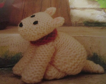 Handmade Knitted Macintosh The Dog Part Of The Little Dumpling Dolls Village People (New, Made To Order) 3+