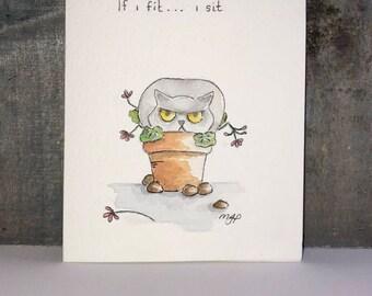Potted Priya Greetings Card