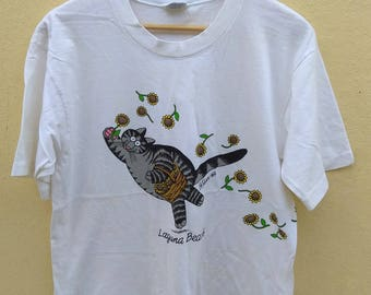 Vintage Crazy Shirts cat bkliban white t-shirt