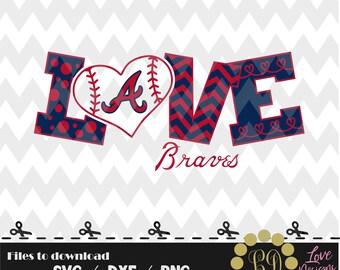 Atlanta Braves baseball svg,png,dxf,cricut,silhouette,jersey,shirt,proud,birthday,invitation,sports,cut,girl,love,softball,2018 new,decal