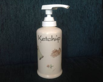 Vintage! Pfaltzgraff Naturewood pump ketchup container - never used