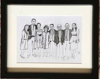 Family portrait 4-8 people