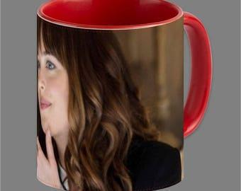 Dakota Johnson Jamie Dornan Coffee Cup Fifty Shades #0001