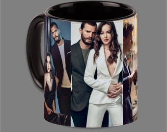 Dakota Johnson Jamie Dornan Coffee Cup Fifty Shades #0020