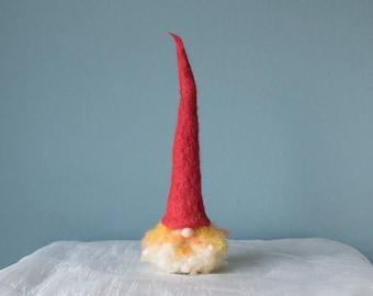 Needle Felted Gnome - ornament, decoration, wool, felt