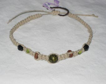 Natural Hemp Glass and Wood Beads
