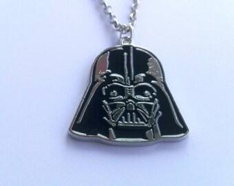 Movie Star Wars: Darth Vader Metal Pendant, Necklace, Star Wars Necklace, Jewelry, , Star Wars Inspired, Star Wars Gift, a gift for him