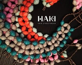 Twisted beaded necklace | Type: Taamiti