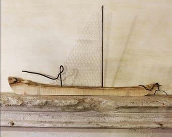 Sailing Ship/Home Decor/sailing boat made of wood and iron