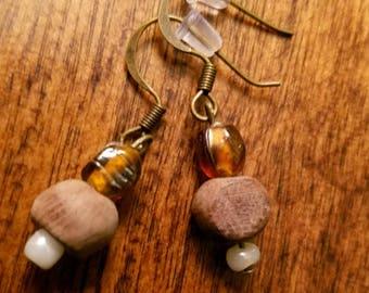 Woodbead Earrings