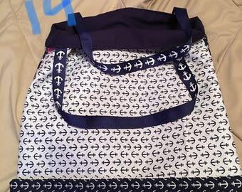 Handmade Reversible Anchors Bag