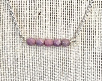 Czech bead bar necklace