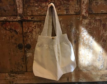 Hand made crochet tote bag