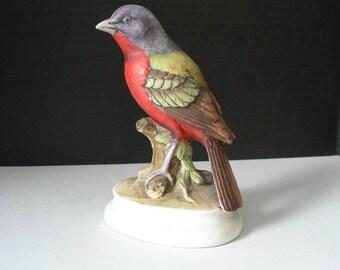 Vintage Lefton Painted Bunting Figurine