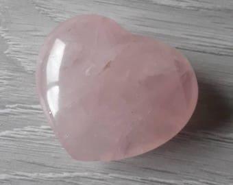 2 inch rose quartz heart