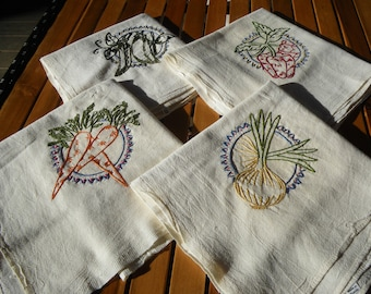 Embroidered Dish Towels (set of 4)