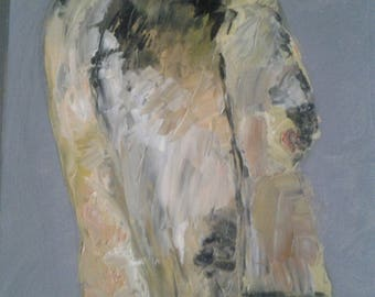 "Man in profile ""abstract"" painting"