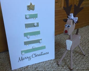 Handmade Christmas Tree Card
