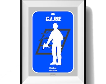 Iconic Silhouette Action Figure Ranges Poster - G.I.Joe