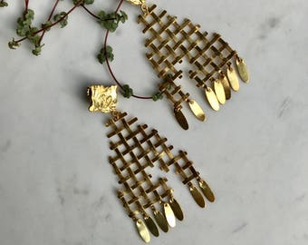 Geometric Lines ( goldplated silver)
