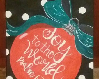 Joy to the World Ornament Canvas