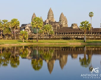 Angkor Wat Temple Complex in Siem Reap, Cambodia Photographic Print or Canvas for Wall