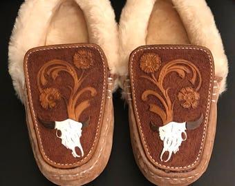 Custom Leather Slippers