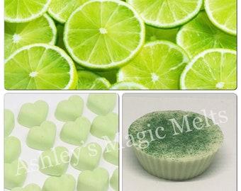 3 Lime wax melts, fruit wax melts, scented wax cubes, highly scented wax melts, strong wax melts, cheap wax melts, wax tart melts, citrus
