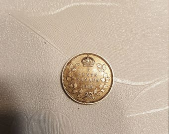 1916 Canadian Small 5 Cent