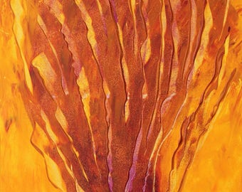 "Abstract painting-art-acrylic on canvas ""the Flame/The Flame"""