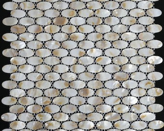 Ellipse Mother of pearl tile backsplash MOP009 natural sea shell pearl mosaic bathroom wall tiles