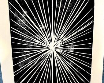 Star Lino Print