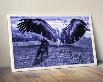 brave knight, knight, brave, knight print, brave poster, knight poster, brave print, poster print, digital art, art