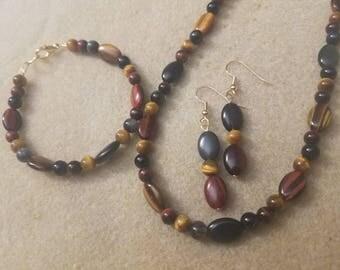 Tigers Eye Jewelry Set