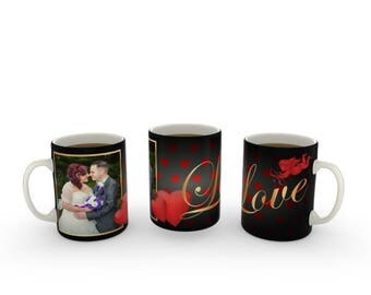 Personalised Valentines Day Photo Mug