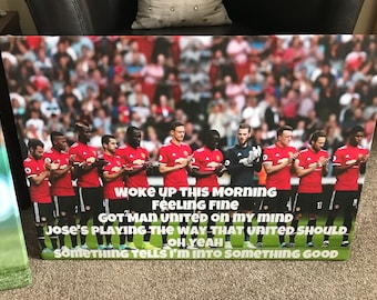 Manchester United Song Canvas