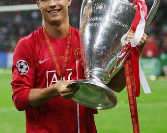 Cristiano Ronaldo Manchester United Champions League Canvas