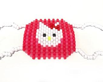 hello kitty mask template - lace cat masquerade mask crochet pattern pdf costume photo