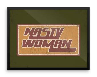 Retro Nasty Woman Framed poster
