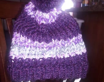 Knitted PURPLE Cap