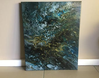 Acrylic pouring artwork.