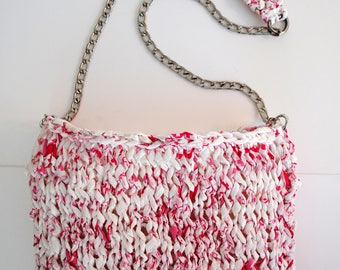 Heather pink shoulder bag