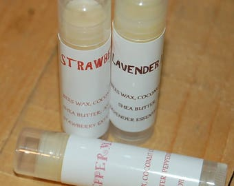 Lip balm made with essential oils