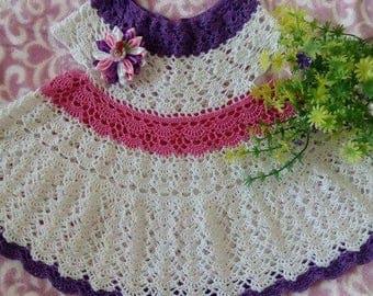 Knit dress crochet